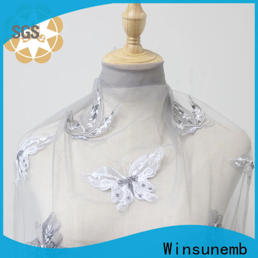 Winsunemb mesh bridal lace by the yard for apparel