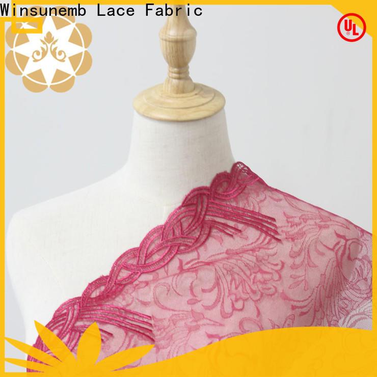 Winsunemb breezy cotton lace fabric in china for underwear
