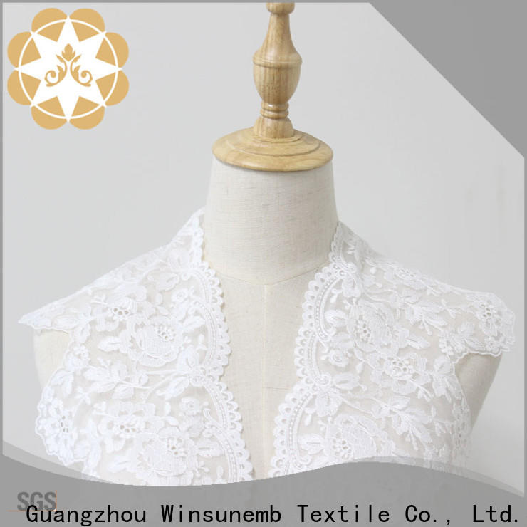 Winsunemb singlewave lace fabric for manufacturer for lingerie