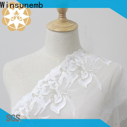 Winsunemb trim Embroidery Lace Trimming in china for fashion garment