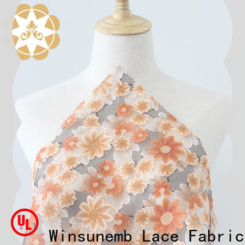 fashion design printed lace fabric gowns in china for table cloth