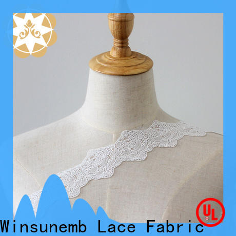 Winsunemb floral lace fabric in china for lingerie