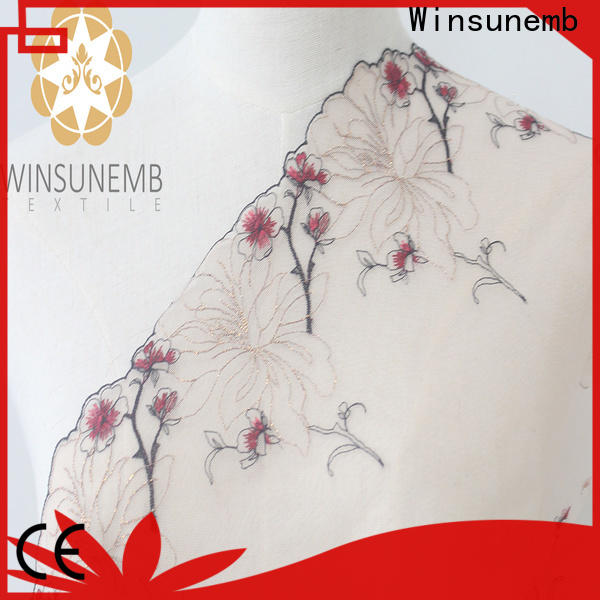 Winsunemb high quality stretch lace trim for lingerie