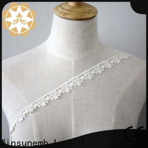 Winsunemb embroidered lace trim by the yard in china for bedclothes
