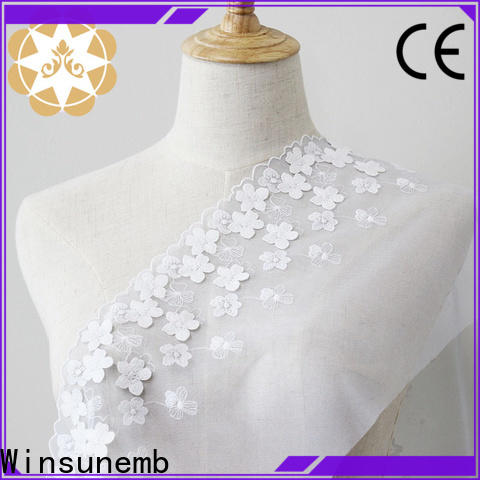 elegant white lace fabric whole order now for apparel