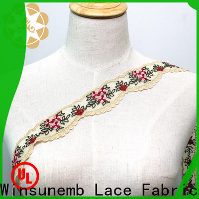 Winsunemb cording lace fabric producer for bedclothes