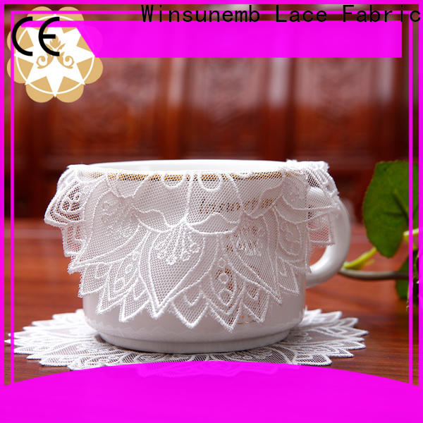 Winsunemb superior lace doilies bulk for end table