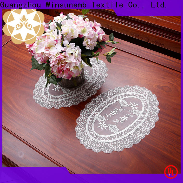 Winsunemb butterflyshaped lace coasters producer for dining tables