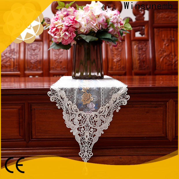 Winsunemb nop806 lace table runners wedding order now for TV cabinets