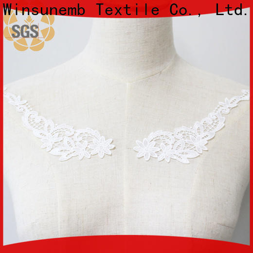 Winsunemb superior embroidery lace motif directly sale for clothing collars