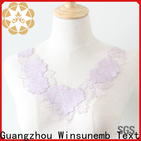 Winsunemb elegant lace neckline in china for chest corsage