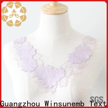 Winsunemb elegant lace neckline in china for chest corsage