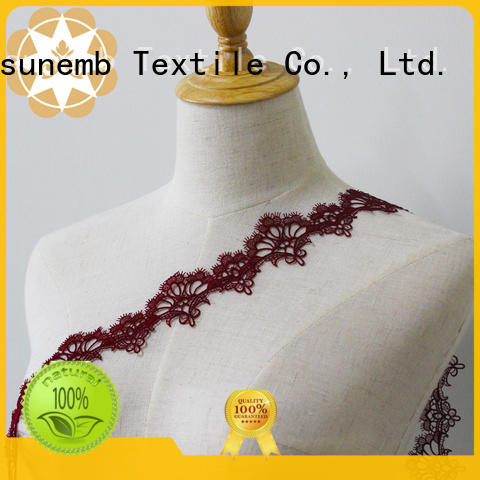 Winsunemb high quality lace by the yard rose for bedclothes