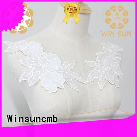 Winsunemb dress lace neckline dropshipping for decorate