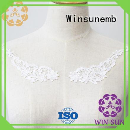 collar cotton Winsunemb Brand applique designs factory
