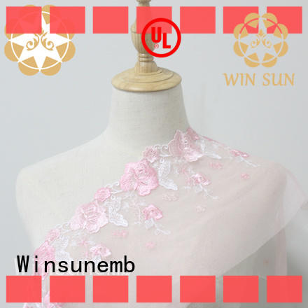 Winsunemb ribbon stretch lace fabric shop now for DIY