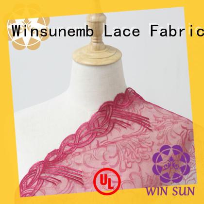 Winsunemb professional beaded fabric by the yard 135cm for underwear