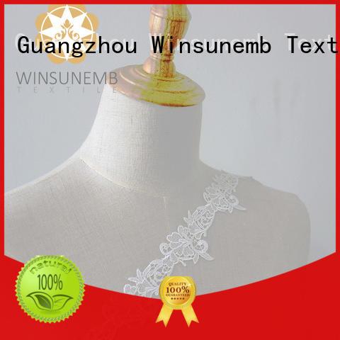 Winsunemb eyelash lace fabric bulk production for DIY