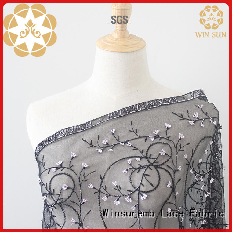 Winsunemb Embroidery Lace Fabric order now for apparel