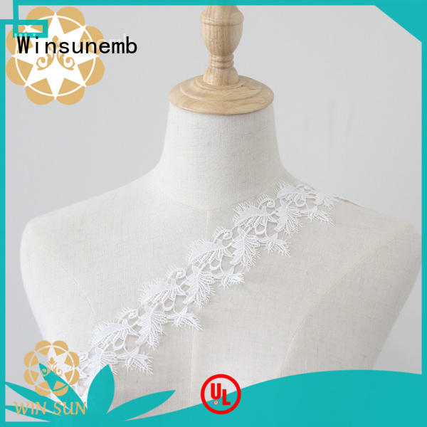 Winsunemb plum Embroidery Lace Trimming grab now for fashion garment