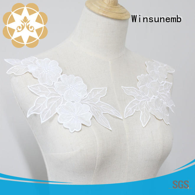 Winsunemb superior lace neckline directly sale for clothing collars