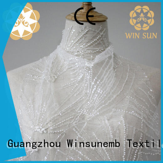 Winsunemb childhood lace fabric wholesale bulk production for apparel