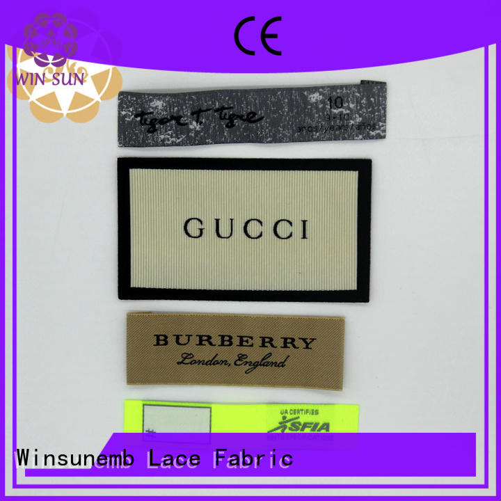 Winsunemb professional fabric labels factory price for dresses