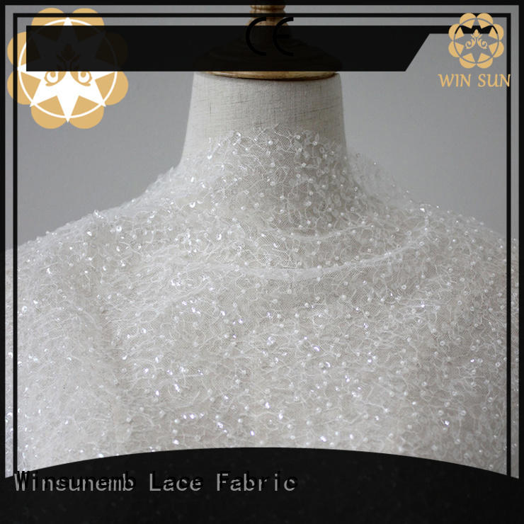 Winsunemb excellent lace fabric online producer for apparel