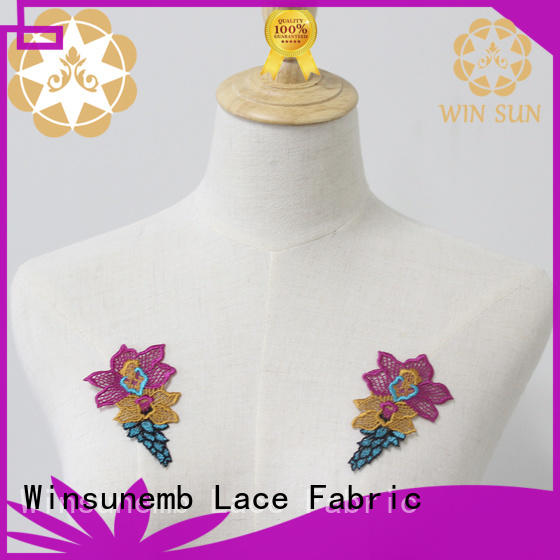Winsunemb or lace motif for manufacturer for decorate