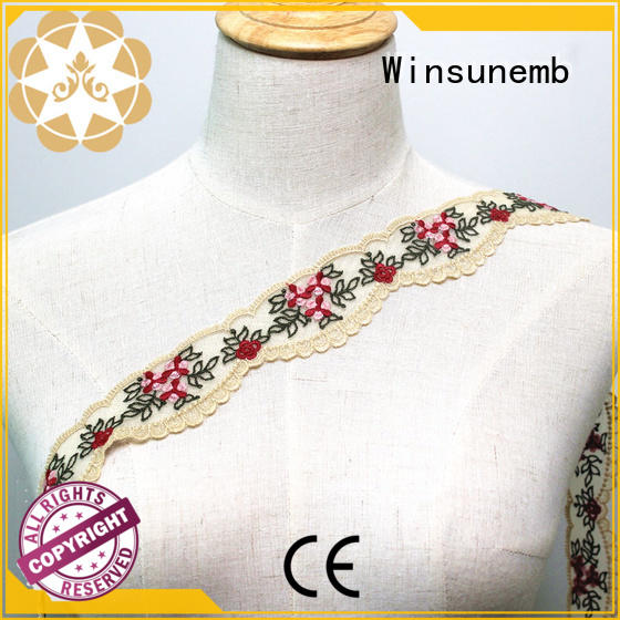 exquisite embroidered lace fabric bulk production for fashion garment