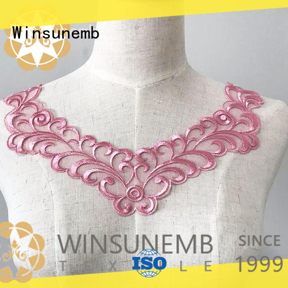 Winsunemb good looking lace motif factory price for decorate