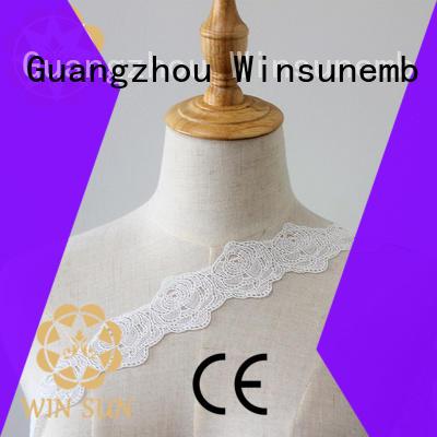 Winsunemb popular lace trim order now for lingerie