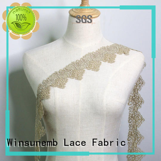 high-end lace trim by the yard bridal producer for DIY