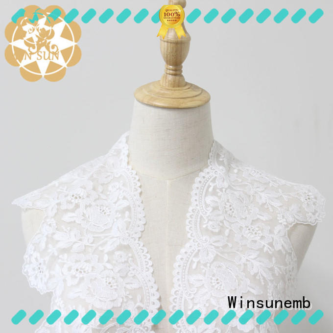 Winsunemb lace trim in china for bedclothes