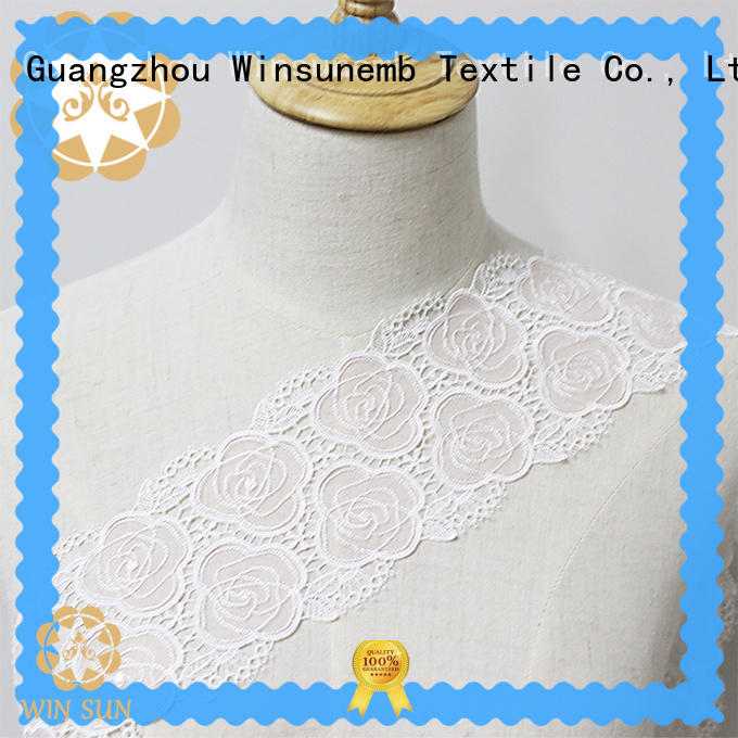 Winsunemb competitive price Embroidery Lace Trimming for bedclothes