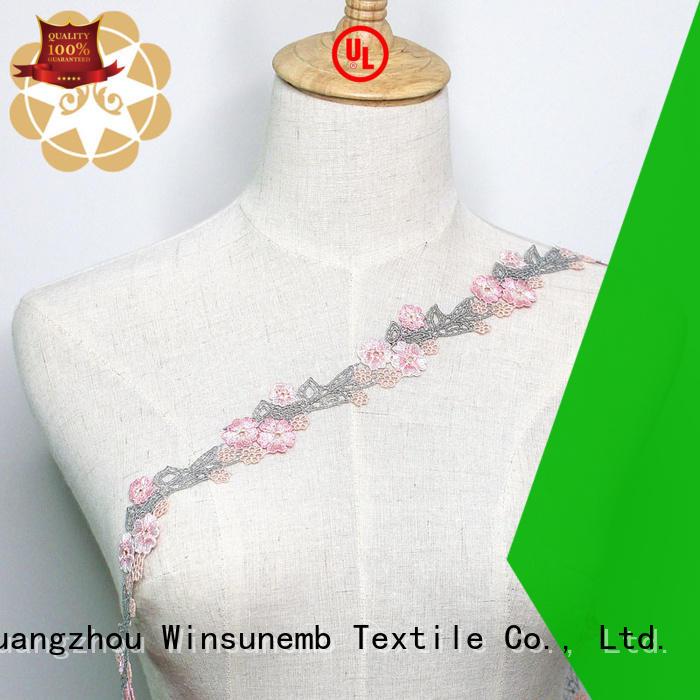 Wholesale garment Embroidery Lace Trimming Winsunemb Brand