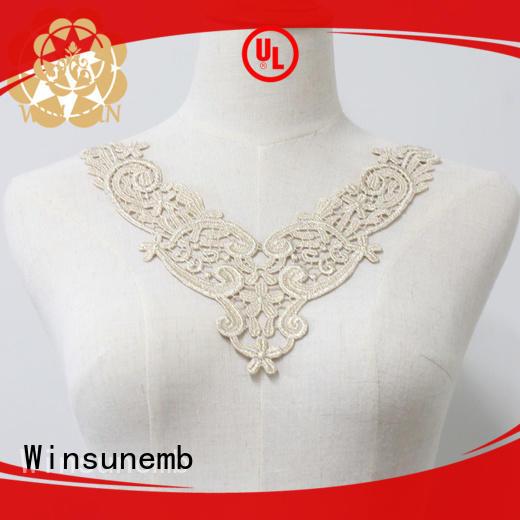 Winsunemb elegant embroidery lace motif for manufacturer for DIY