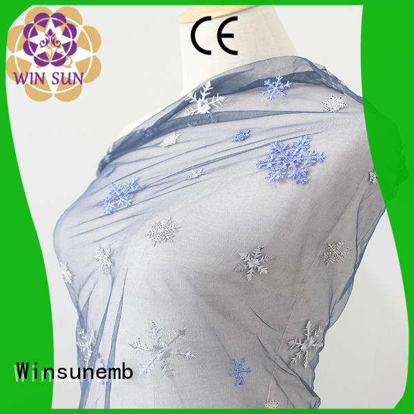 ivory lace fabric producer for apparel Winsunemb