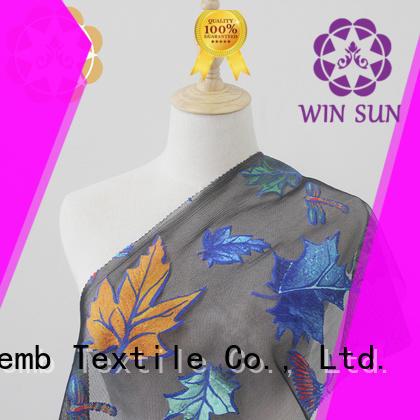 Winsunemb digital Printed fabric bulk production for cloth