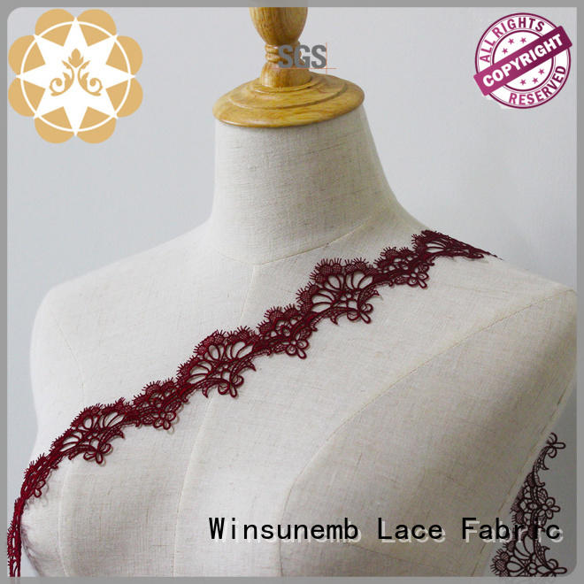 Wholesale cut lingerie Embroidery Lace Trimming Winsunemb Brand