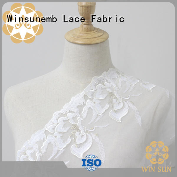 Winsunemb robes stretch lace trim for manufacturer for bedclothes