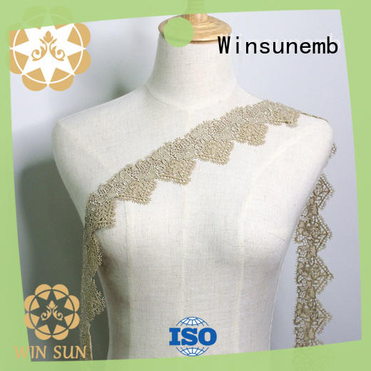 Winsunemb popular lace trim by the yard order now for bedclothes