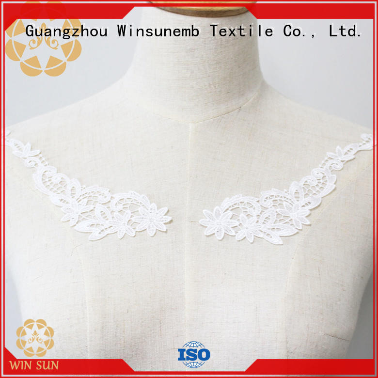 fashion design embroidery lace motif costume wholesale for chest corsage