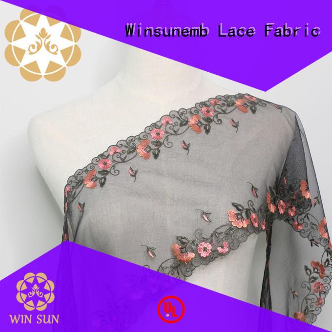 Winsunemb nylon vintage lace for manufacturer for underwear
