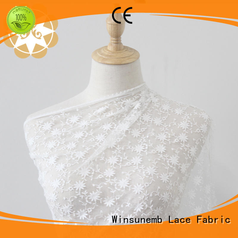 lace overlay fabric in china for apparel Winsunemb