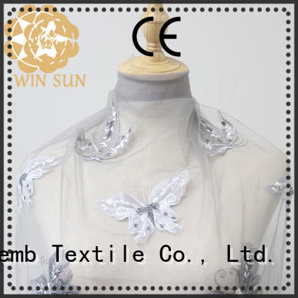 Winsunemb soft Embroidery Lace Fabric order now for apparel