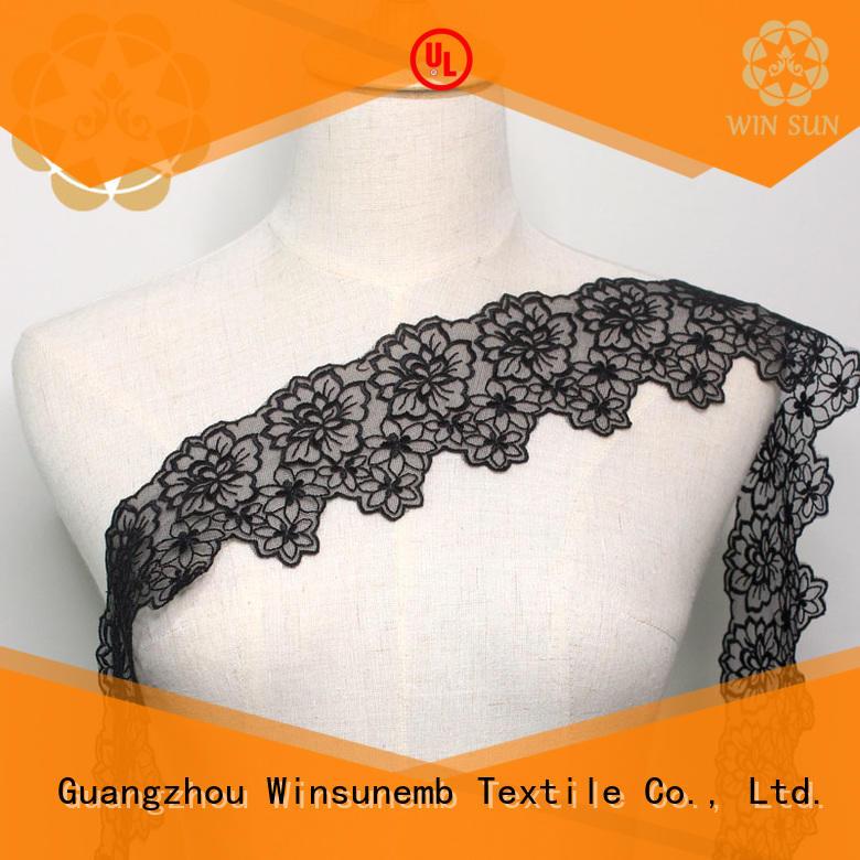 Winsunemb soft lace fabric for fashion garment