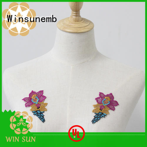 Winsunemb attractive lace neckline directly sale for clothing collars