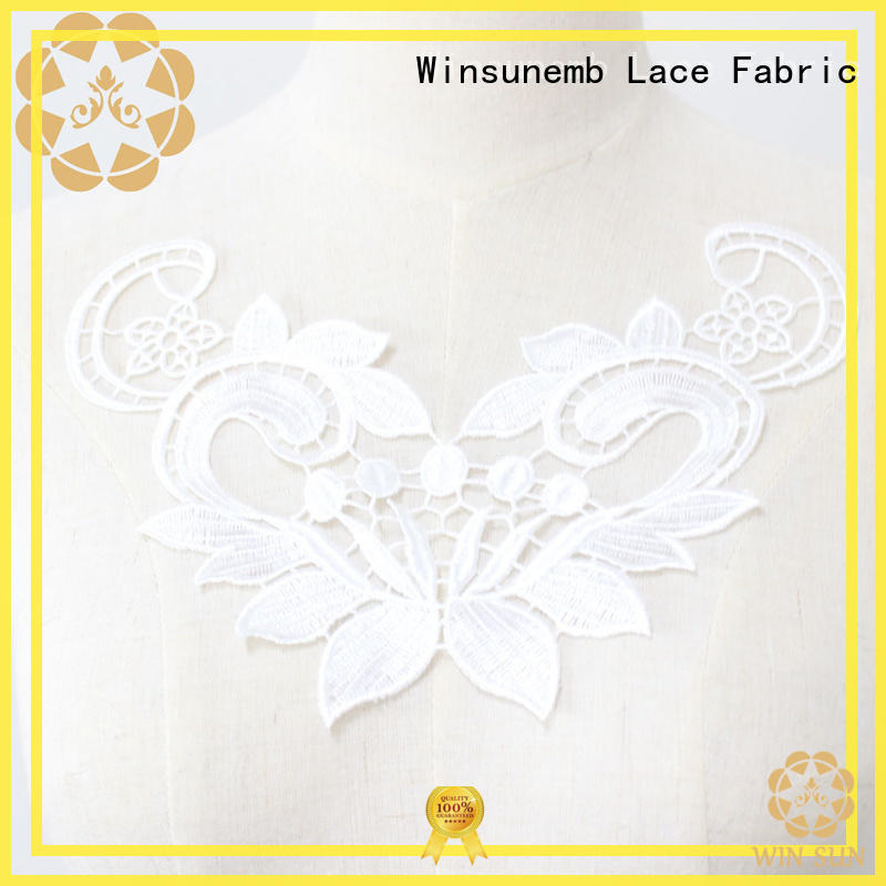 Winsunemb dress lace neckline bulk production for decorate
