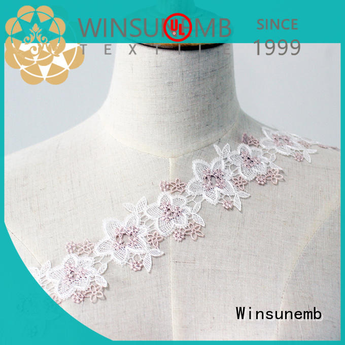 Winsunemb popular stretch lace fabric order now for fashion garment